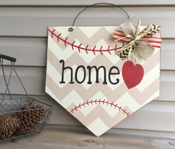 Baseball Door Hanger - Home Plate