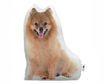 Cute Pomeranian Shaped Cushion, Personalised Lettering, Dog Shaped Cushions