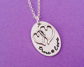 True love necklace, true love, anniversary gift, girlfriend gift, gift for girlfriend, heart necklace, first anniversary, gift for her