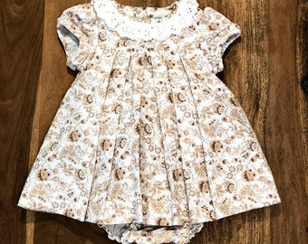 Girl printed linen cotton