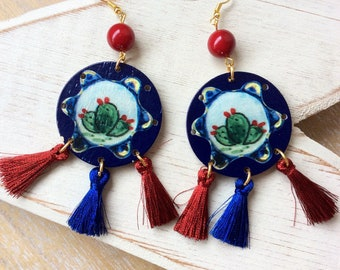 Earrings with prickly Pear
