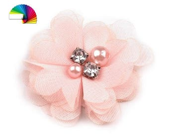 3 Decorative Mesh Flower Ø50 mm with Beads