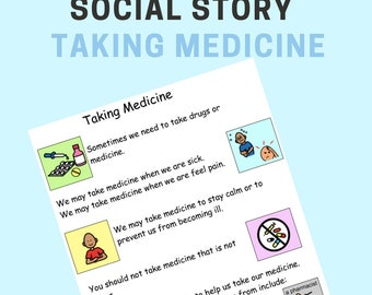 Social Stories – Taking Medicine. Autism, ADHD, Special Needs - Instant Download.