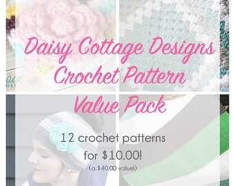 Daisy Cottage Designs Crochet Pattern Value Pack - All Crochet Patterns from Shop Included