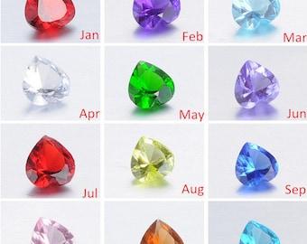 Full Set of Heart Birthstones for Floating Lockets (12 Colors), Memory Locket Birthstones, Easter Gift