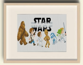 Star Wars Cross Stitch Pattern / BUY 2 GET 1 FREE /Mini Pixel People / pdf Digital Pattern / Cross-Stitch pdf /#A9