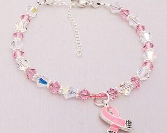 Breast Cancer Awareness Handcrafted Beaded Bracelet BRCA