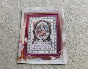 Father Winter Counted Cross Stitch Pattern Designed by Teresa Wentzler