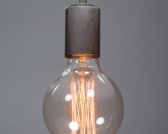 Pendant ceiling light vintage amp funk steel nickel ceiling light industrial ceramic ceiling light antique edison bulb lamp rustic aloadofball Image collections