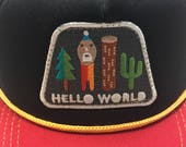 "Infant/Toddler Trucker Hat with ""Hello World""..."