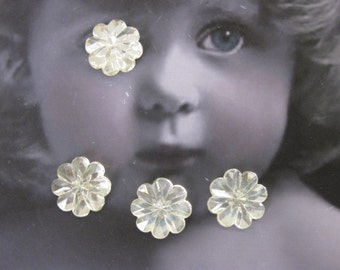 Vintage West German Flower Crystal Cabochons 15mm 2268VIN15mm x4