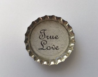Bottle cap magnets set wedding gift for couple bridal shower refrigerator fridge kitchen