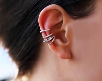 Ear cuff no piercing, gold ear cuff, ear cuff earrings, ear cuff, no piercing earrings, helix earring, earcuff, no piercing, cartilage hoop