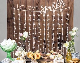 Rustic Wedding Backdrop, Custom Tapestry, Dessert Table Banner, Engagement Tapestry, Wedding Backdrop, DIY Wedding Wall // W-G21-TP MAR1 AA3
