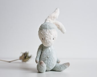 Made To Order Plush Bunny Mohair Rabbit Stuffed Animal Handmade Toy Easter Bunny Soft Toys Personalized Gift For Her  Artist Teddy Bear