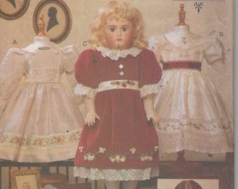 "18""  Doll Heirloom Dresses Sewing Pattern Vogue  7163, Uncut"