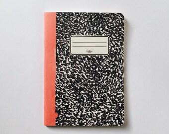 Pages de carnet de notes - pages vierges: Journal - carnet de croquis - - doublé corail