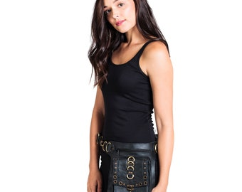 Classic Leather Travel fanny pack hip belt