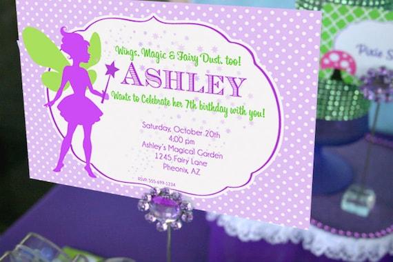 Fairy birthday invitation fairy garden party invitation filmwisefo Images