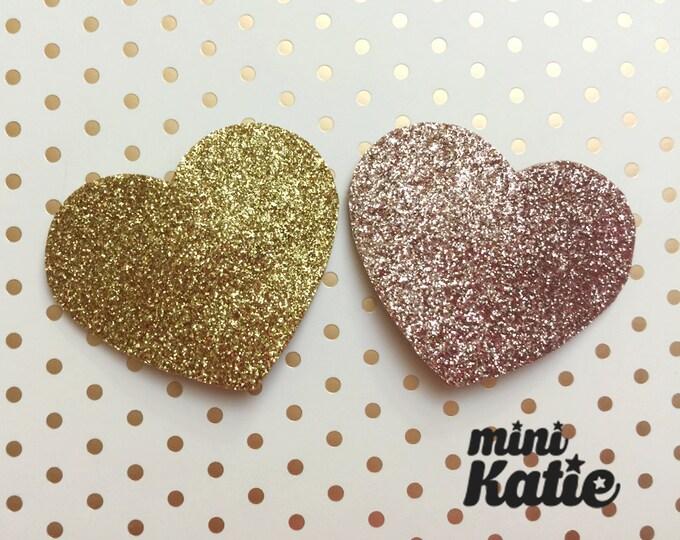mini Katie Glitter Heart Hair Barrette Hair clip Adorable Glitter hair Accessory for Baby Girls Toddlers Kids Handmade