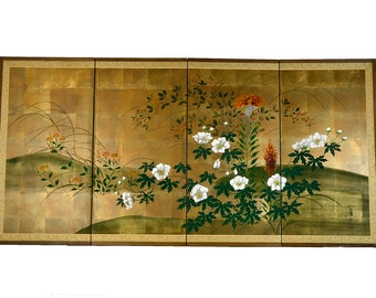 Stunning Iohara Collection Japanese Hand Painted Screen