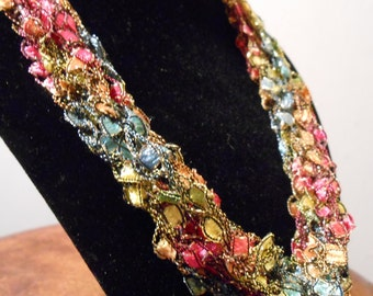 Crochetted Necklace Item No. 120A