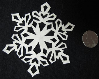Christmas Ornaments  - Scherenschnitte - Hand Paper Cutting Art signed and dated By Janet Lynch