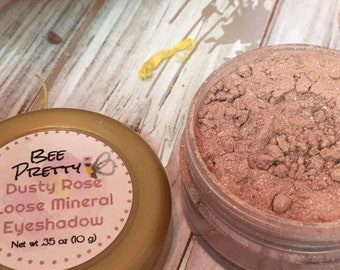 Dusty Rose Mineral Makeup EyeShadow 5g Jar Dusty Pink Eye Shadow Vegan Friendly Mineral Make up Loose Eyeshadow