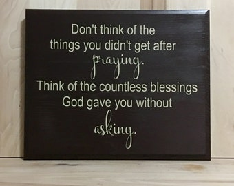 Praying wood sign, religious sign, Christian wall art, religious gift, home decor sign, custom wooden sign, inspirational sign, wall sign