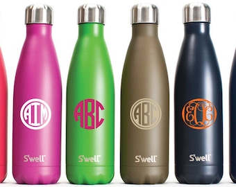 S'well Monogram Decal / S'well Monogram Sticker / Personalized Custom Vinyl Decal for S'well Bottle