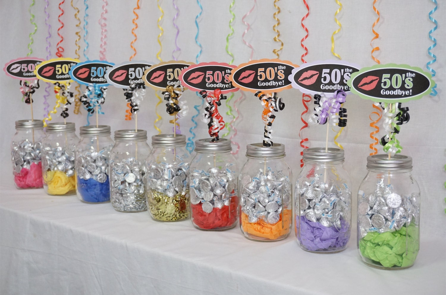 60th birthday decoration available in 9 colors 60th candy for 60th birthday party decoration