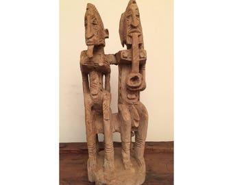 Seated Couple- Dogon Statue (Mali)
