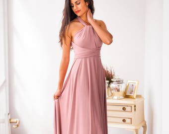 Pink bridesmaid dress, long pink dress, bridesmaid dress, blush pink bridesmaid dress, blush pink dress, pink long dress, prom dress long