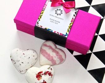 Valentine's Heart Bath Bomb Gift Set