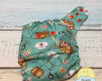 Nurse One Size PUL Cloth Diaper Cover, Turquoise