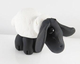 Clay black faced sheep