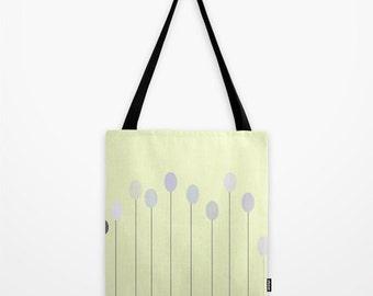 BAG FABRIC BAG, bags, art and photography, pastel, Art Print yellow dots