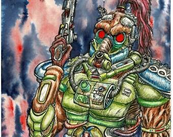 Purge Commander-Original artwork (mixed media)
