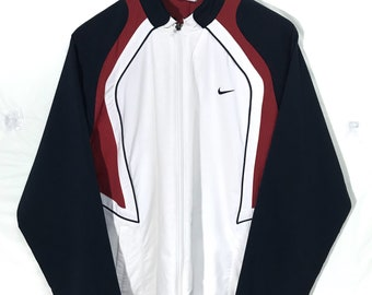 Nike Swoosh Multicolor Sweater Jacket XLarge Size