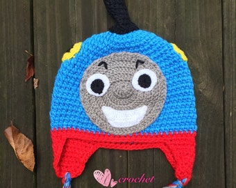 READY to Ship!Thomas the train hat,baby hat, toddler hat,children hat,crochet hat,ready to ship