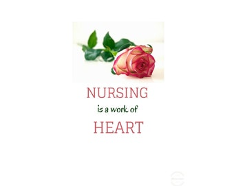 Nursing Is A Work Of Heart, Nursing quote, Breastfeeding Quote, Nursing sign, Nursing Gifts, Nurse Decal, Nurse Gift Ideas, Nursing posters