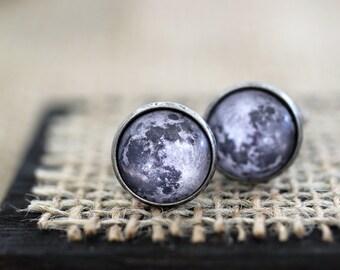 Full Moon Cufflinks, Moon Cufflinks, Moon Cuff Links, Science Cufflinks, Space Jewelry, Space Cufflinks, Space Wedding, Science Wedding