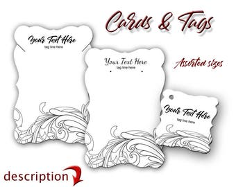 Custom Earring Cards, Jewelry Card, Custom Card, , Necklace Tags, Jewelry Display, Labels, Necklace Display, Earring Display