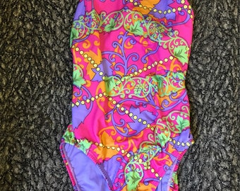 Vintage 1980s  swimming costume size 34