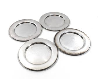Set of 4 Vintage Silver Dessert / Bread & Butter Plates by Oneida
