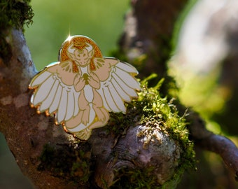 Angel Dragon Hard Enamel Pin