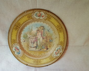 Tin Neoclassical Plate- VIENNA ART PLATE