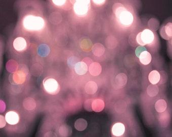 Rose Bokeh - 8 x 10 photo - feux de Bokeh - beaux-arts - rêveuse photographie - art lunatique surréaliste