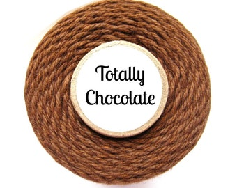 Solid Brown Bakers Twine by Trendy Twine - Totally Chocolate - Craft, Packaging, Cotton String, Favors, Baking, Thanksgiving, Fall, Autumn