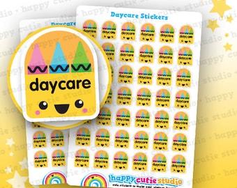 42 Cute Daycare Planner Stickers, Filofax, Erin Condren, Happy Planner, Kawaii, Cute Sticker, UK